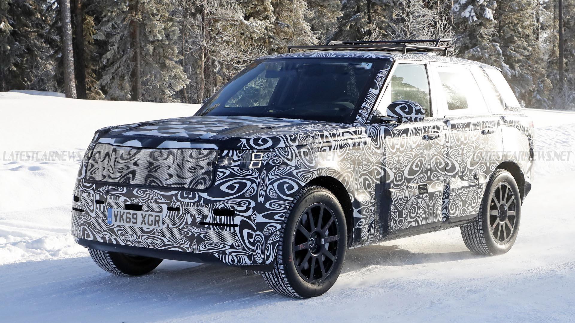 Range Rover 2022 Spy Shot On Test Drive